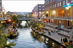 Bricktown in downtown Oklahoma City