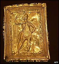 Bulgarias Valley of Thracian Kings golden  plaque