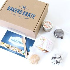 Reviewing Bakers Krate for March 2016, a monthly subscription box that features hand crafted baked goods produced by Canadian dessert experts.(Mailing Bake Goods)