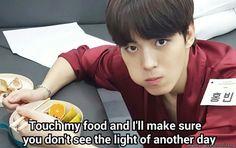 Hongbin be threatening like...