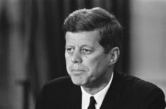 "President John F. Kennedy in a nationwide television and radio address from Washington on Sept. 30, 1962, said orders of the federal courts are being carried out in the enrollment of James Meredith, African American, at the University of Mississippi. The Chief Executive appealed to 'Old Miss' students to preserve the peace, saying ""the eyes of the world are on you"" and ""your honor and the honor of the university are at stake."" (AP Photo/Henry Burroughs)"