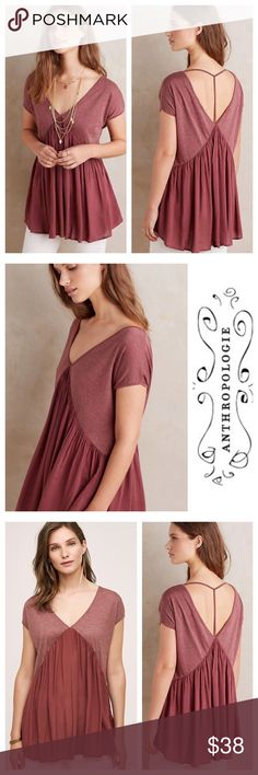 Anthropologie Anama Swing Strap Back Quincy Tee S Anthropologie Anama Swing Strap Back Quincy Tee --- T back --- Small --- NWT Anthropologie Tops Tees - Short Sleeve