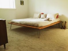 A modern king sized bed
