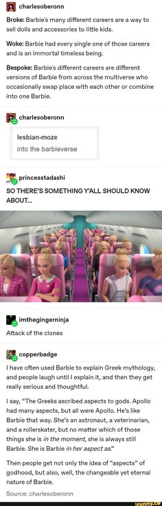 charlesoberonn Broke: Barbie's many different careers are a way to sell dolls and accessories to lit Funny Shit, Funny Posts, The Funny, Funny Memes, Hilarious, Funny Stuff, Funny Things, Random Things, Random Stuff