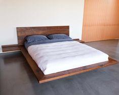 Floating Platform Bed, Floating Bed Frame, King Platform Bed, King Beds, Queen Beds, King Queen, Sleep Number Mattress, Platform Bed Designs, Camas King