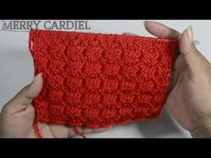 COMO TEJER PUNTO V en  3D  a 2 agujas - YouTube Knitting Stitches, Fingerless Gloves, Arm Warmers, Merry, Make It Yourself, Montevideo, Blog, Youtube, Knitting Patterns