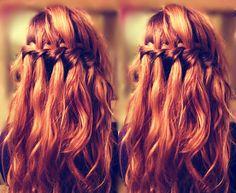 Waterfall braid. Definitely trying this. Soon.