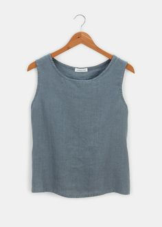 Sleeveless Linen Blouse | Rodale's Linen Blouse, Sustainable Clothing, Fall Looks, Autumn Fashion, Clothes For Women, Tank Tops, Shopping, Sustainable Clothes, Outerwear Women