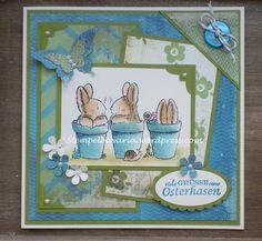 Hallo liebe Blogleser, habt vielen Dank für eure Besuche und Kommentare, freue mich sehr darüber! Meine Osterkartenproduktion ist abgeschlossen und so langsam werde ich euch die letzten Osterkarte ...