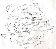 Карта звездного неба из книги Дьяконова
