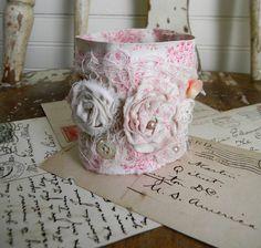 Fabric Roses Cuff Bracelet Shabby Chic <3 <3