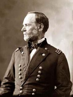 "Maj. General William Tecumseh Sherman (February 8, 1820 – February 14, 1891) He served as a General in the Union Army during the American Civil War (1861–65), for which he received recognition for his outstanding command of military strategy as well as criticism for the harshness of the ""scorched earth"" policies that he implemented in conducting total war against the Confederate States."
