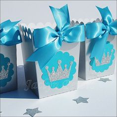 Winter Princess Party Popcorn Favor Boxes