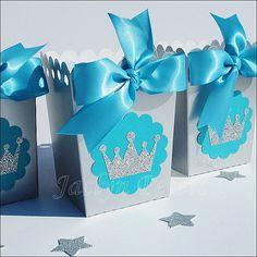 Winter Princess Party Popcorn Favor Boxes