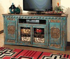 Santa Maria Turquoise Entertainment Console