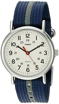 Timex Unisex Weekender Blue/Gray Stripe Nylon Slip-Thru Strap Watch for sale Mens Watches Under 100, Watches For Men, Wrist Watches, Timex Watches, Men's Watches, Shops, Thing 1, Watch Brands, Cool Watches