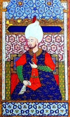 Kanuni, Şehzade Bayezid ve Cihangir'in sünnet düğününde minyatüründen ayrıntı. Arîfî, Süleymanname, 1558. TSMK H 1517, y. 412a. (Halil İnalcık, Has-bağçede 'ayş u tarab, syf:194'ten iktibas)