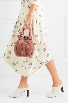 Staud Baby-pink crushed-velvet Snap fastening at open top Designer color   Dusty · Handbag AccessoriesFashion ... 8b52e6d35d