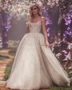 New Disney Wedding Dresses By Paolo Sebastian : Prepare for your dreams to come true. Paolo Sebastian just launched Disney Once Upon a Dream wedding dresses. Disney Wedding Dresses, Dream Wedding Dresses, Wedding Gowns, Modest Wedding, Floral Wedding Dresses, Twilight Wedding Dresses, Wedding Disney, Disney Weddings, Backless Wedding