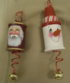 DIY Ornaments - copper wire through a spool!  .....easy!