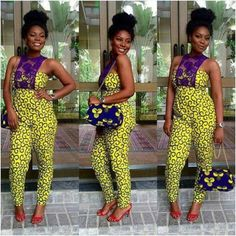 Ankara Jumpsuit + lace Ankara Pencil Skirt + plain blouse See many more after cut… Which one are you taking to your tailor African Attire, African Wear, African Women, African Dress, African Style, African Shop, African Girl, African Inspired Fashion, African Print Fashion