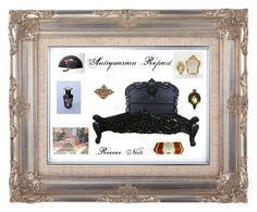 """""""Antiquarian Repast"""" by anna-ragland ❤ liked on Polyvore featuring interior, interiors, interior design, home, home decor, interior decorating, WALL, Etsyfinds and antiquedecor"""