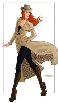 Learn how to draw burberry check pattern in fashion sketches