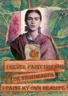 Young Frida   Paper collage -- altered photo, oil pastels, watercolors.