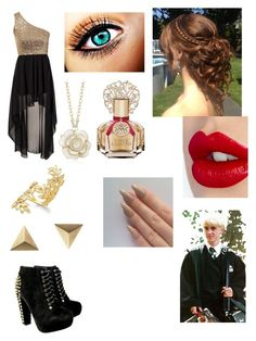 """Yule ball with Draco"" by jessiepieroni ❤ liked on Polyvore featuring John Zack, Bar III, Maria Black, Charlotte Tilbury, Vince Camuto, women's clothing, women, female, woman and misses"