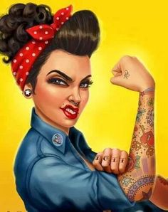 Happy Women's Day. To all the hard workin foxy ladies out there. #women #pinup #tattoo