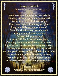 Being a Witch by Wicca Yvonne, Magickal Moonie's Sanctuary