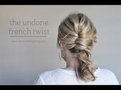 Undone French Twist w. video. Elegant hair for the elegant mommy on the run