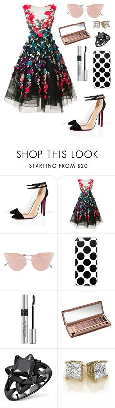 """""""Dress .. Eyeshadow ..mascara .. Simple style"""" by jojogena ❤ liked on Polyvore featuring beauty, Marchesa, So.Ya, Christian Dior and Urban Decay"""