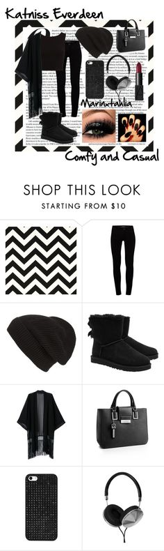 """""""Katniss Everdeen Casual and Comfy look"""" by marinxtahlia ❤ liked on Polyvore featuring J Brand, Phase 3, UGG Australia, Calvin Klein, BaubleBar, Frends, NARS Cosmetics and otherlooksmarinxtahlia"""