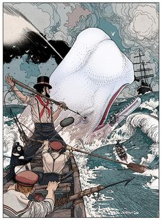 """Penguin - """"Moby Dick"""" Cannes Lions International Festival of Creativity 2014 Moby Dick, Lions International, International Festival, Dom Quixote, Wale, Penguin Books, Book Cover Design, Print Ads, Graphic"""