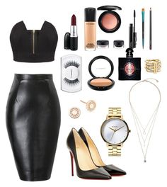 """""""Clubbing"""" by gelato-on-my-mind ❤ liked on Polyvore featuring MAC Cosmetics, Michael Kors, Christian Louboutin, Astley Clarke, Accessorize, Yves Saint Laurent, Nixon, women's clothing, women and female"""