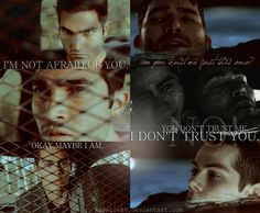 Teen Wolf - Stiles and  Derek S T E R E K 2 by kayelle89.deviantart.com on @deviantART