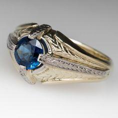 Antique Mens Sapphire Ring