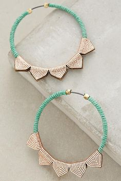 Vexilla Hoops  #anthrofave #anthropologie