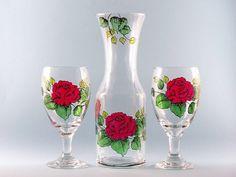 Wedding Goblet Glasses Gift Set by KarensGlassDesign on Etsy