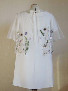 Boléro cache épaules blanc mariage bohème dentelle fleurie