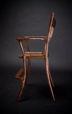 sculpted walnut high chair - by DaytonB @ LumberJocks.com ...