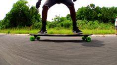 spin longboard skate gif