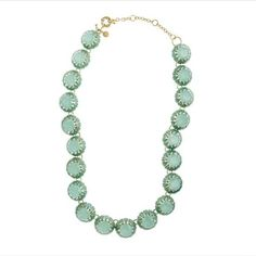 JCREW Mint Green Cupcake Necklace Two-tone green gem necklace. Adjustable closure. Like new condition. J. Crew Jewelry Necklaces