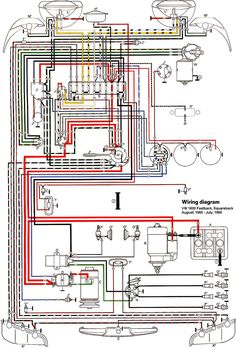 71 VW T3 wiring diagram | Ruthie | Pinterest