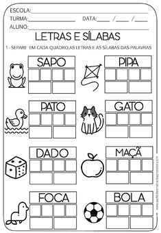 Preschool Writing, Preschool Learning Activities, Teaching Kids, Kids Learning, Portuguese Lessons, Learn Portuguese, Spanish Lessons, Speech Language Therapy, Free Math