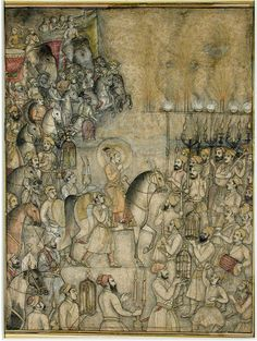 Celebrations at the time of the marriage of Aurangzeb Alamgir I