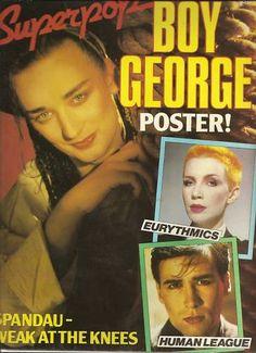 BOY GEORGE - SUPERPOP - POSTER MAGAZINE 1983