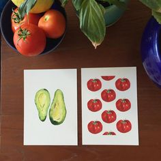 Heirloom Tomatoes Art print tomatoes print by TheJoyofColor