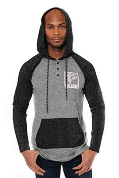 NFL Men's Henley Raglan Team Color Pullover Hoodie Sweatshirt  http://allstarsportsfan.com/product/nfl-mens-henley-raglan-team-color-pullover-hoodie-sweatshirt/?attribute_pa_teamname=atlanta-falcons&attribute_pa_size=small  Officially Licensed By The NFL (National Football League) Perfect for running, jogging, sports, exercise, lounging around the house, or everyday use High quality screen print graphics of team logo and name